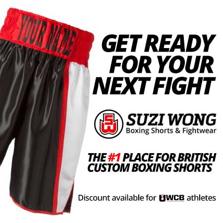 Suzi Wong Sponsor of Ultra White Collar Boxing
