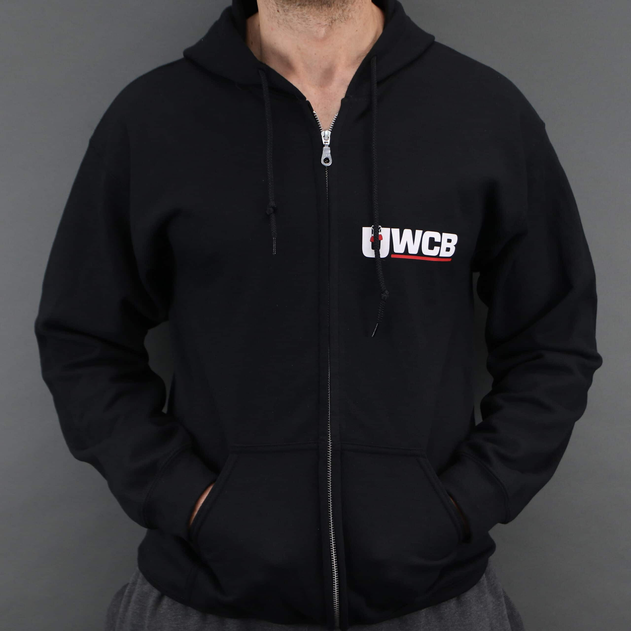 Ultra White Collar Boxing(UWCB) Zip Hoodie - Front