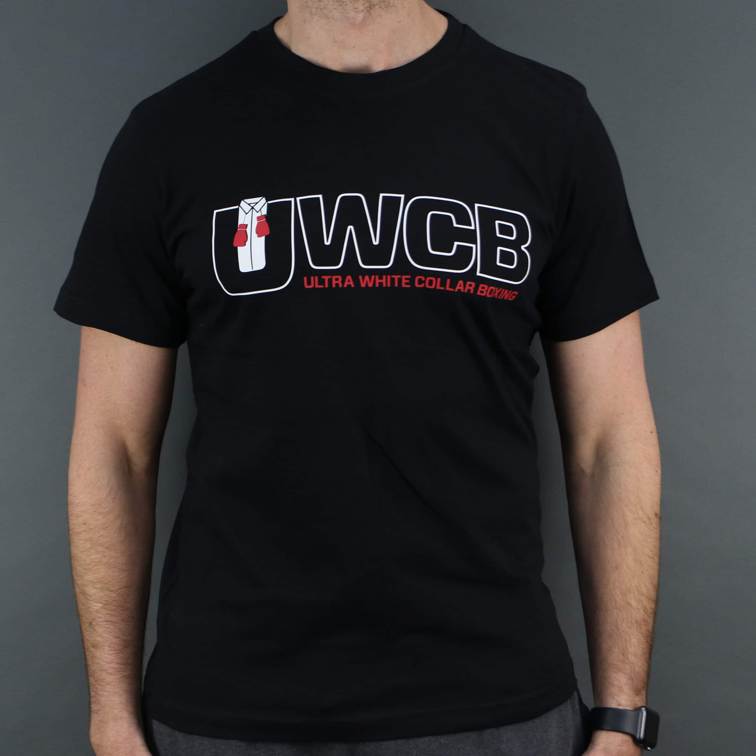 Ultra White Collar Boxing(UWCB) T-Shirt- Front