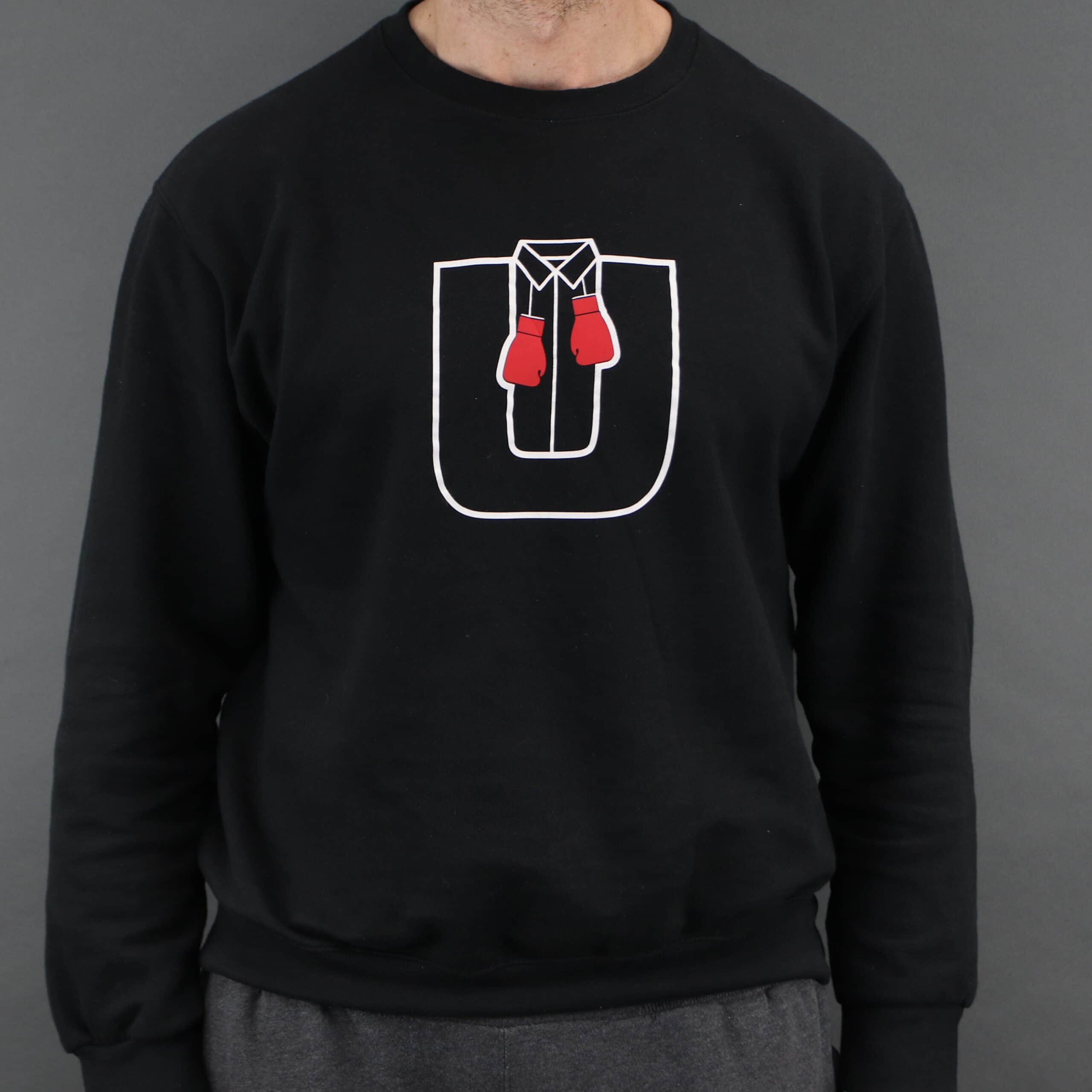 Ultra White Collar Boxing(UWCB) Sweatshirt- Front