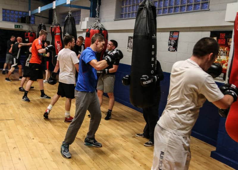 ultra white collar boxing improves health and fitness