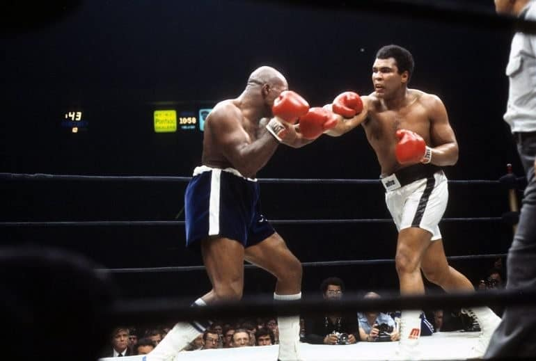 Muhammad Ali used walk out music for the first time in 1977 against Earnie Shavers.