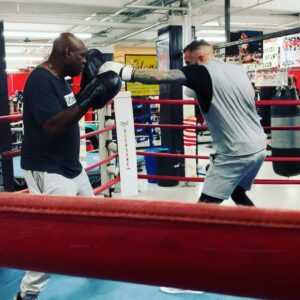 In the ring with the champ